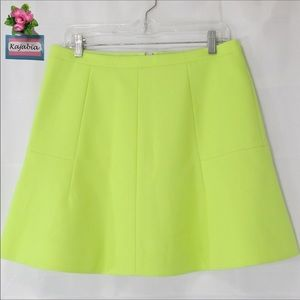 J. CREW Neon Yellow Mini Skirt Size 10💥JUST IN💥